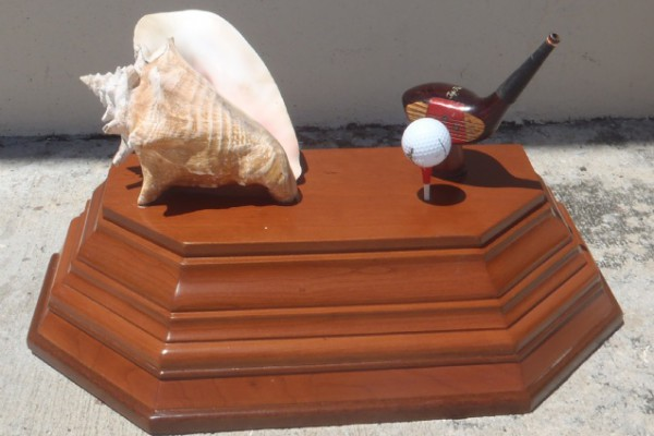 conch golf trophy