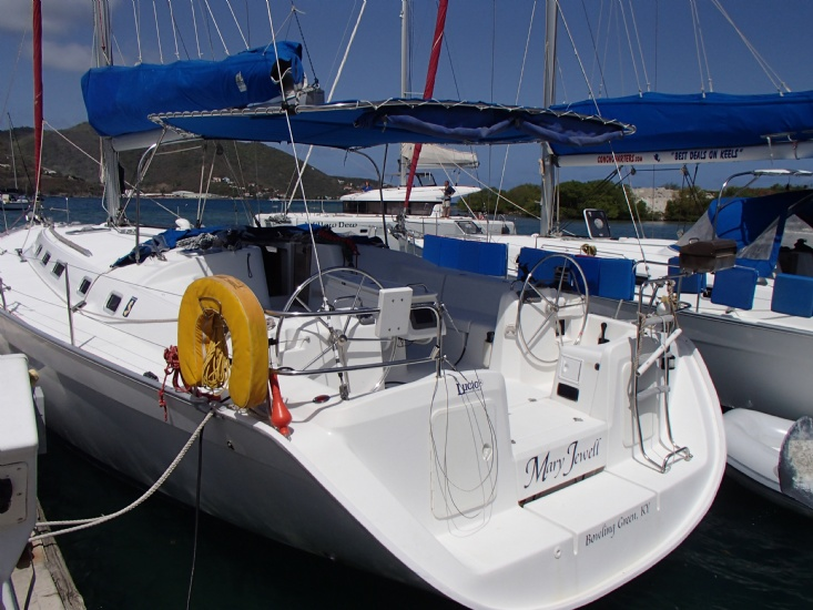 cyclades 50 looking aft