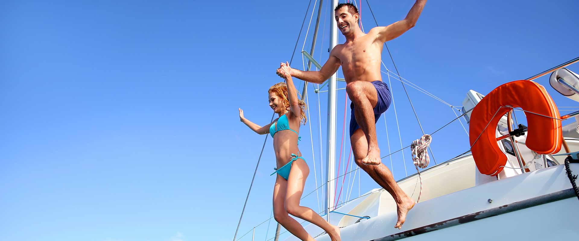 jumping from yacht